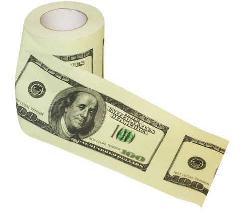 100 Dollar Toilettenpapier