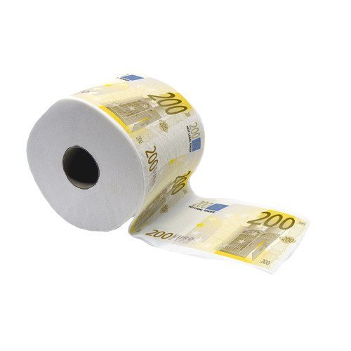 200 Euro Toiletten Papier
