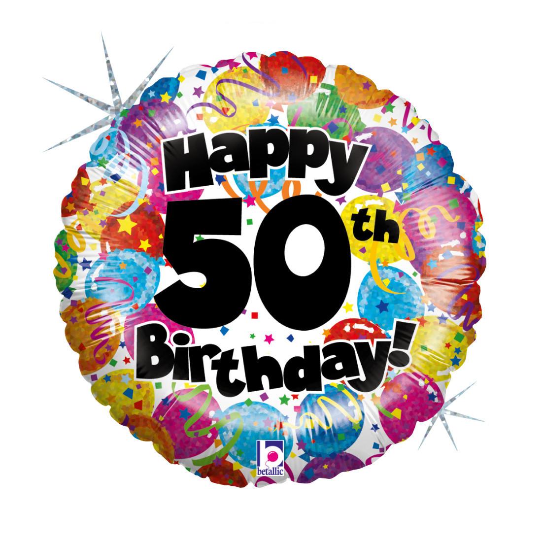 """50. HAPPY BIRTHDAY 46 CM/ 18 """" HOLO"""