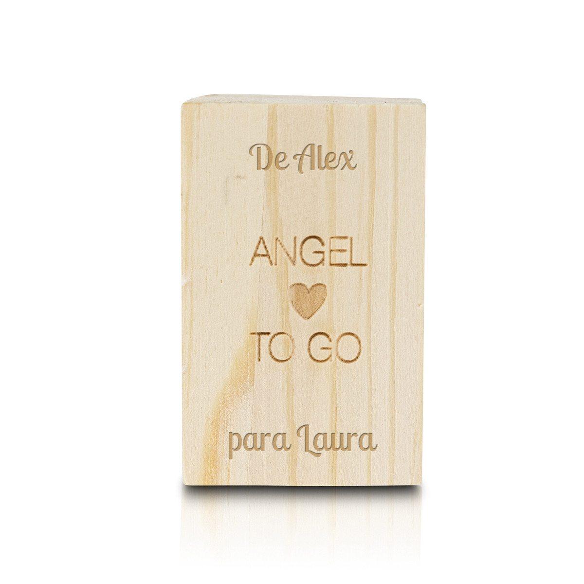 Ángel de la guarda en caja de madera – único y personalizable