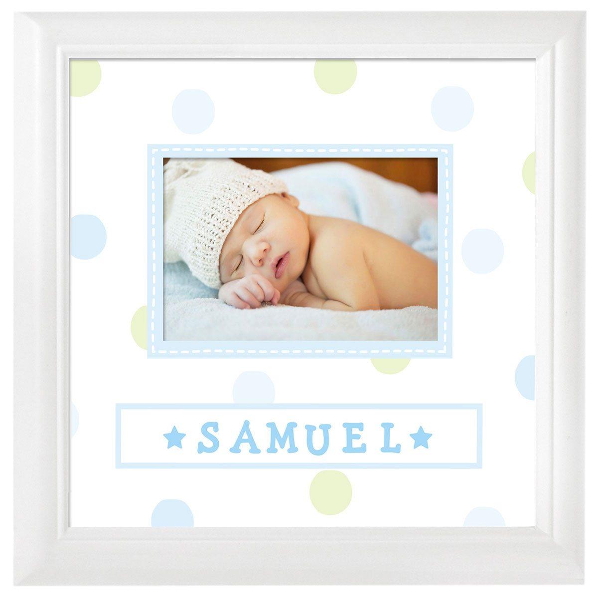 Baby Rahmen mit Namensstickern