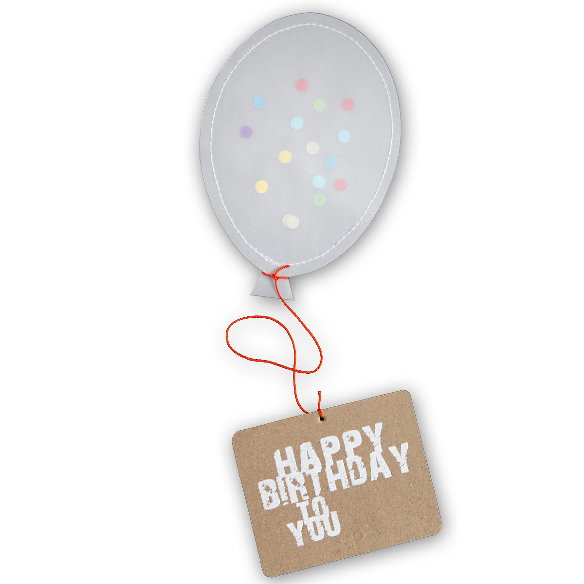 Ballonpost mit Konfetti