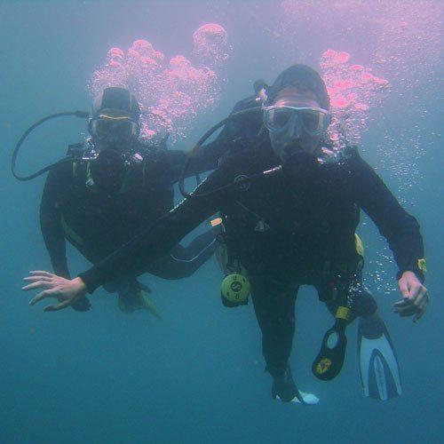 Bautizo de submarinismo desde barco - Girona