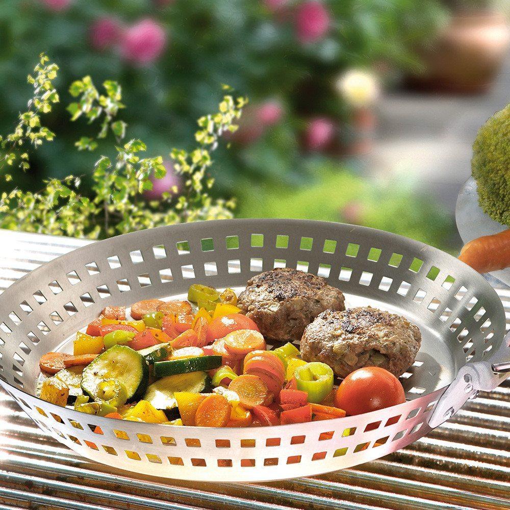 BBQ Edelstahl-Grillpfanne