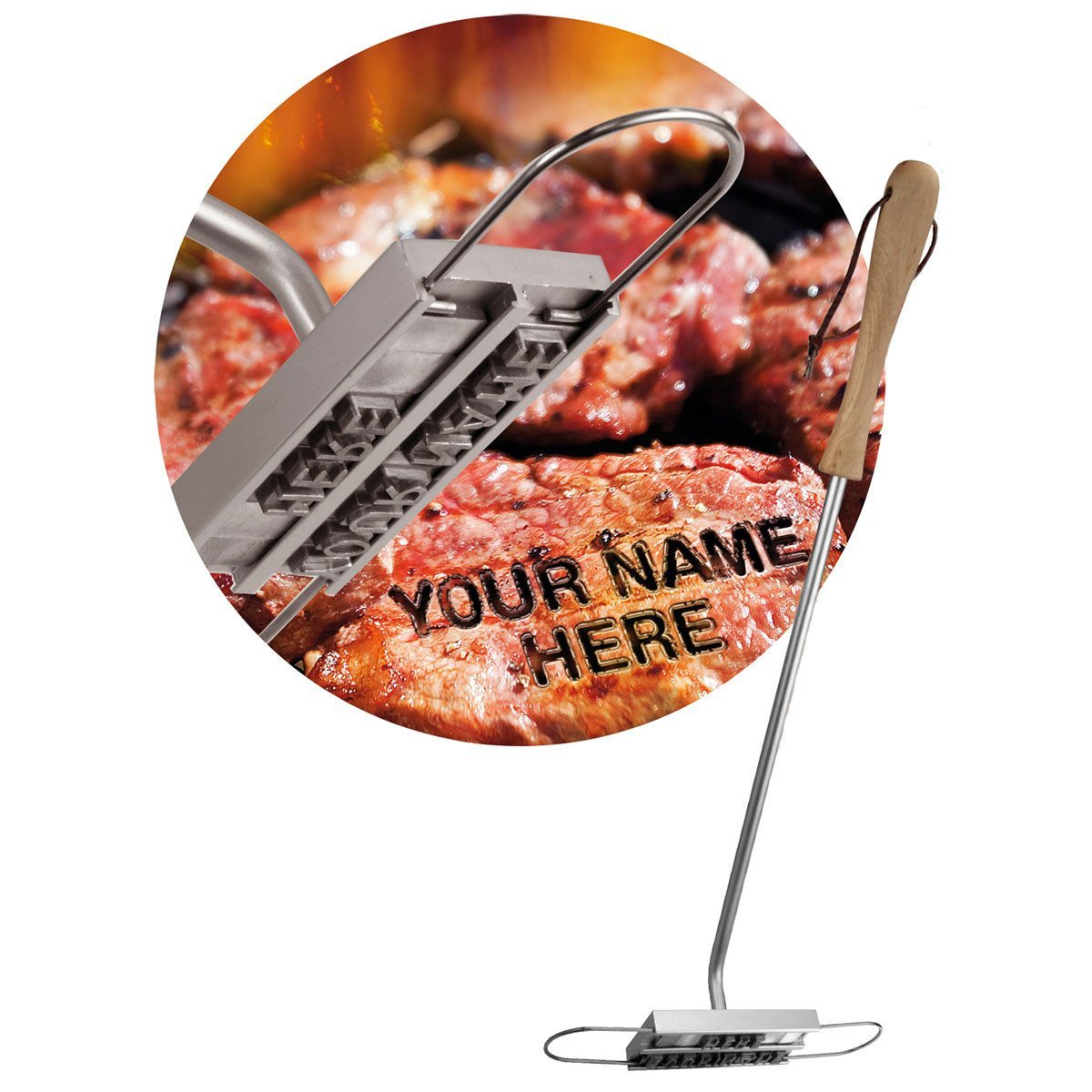 BBQ Grill-Brandeisen mit Wechselbuchstaben