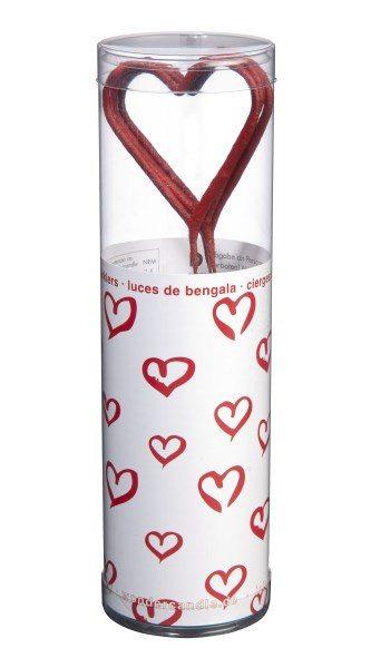 "Bengalas ""Corazón rojo"" - Ilumina tus noches más románticas"