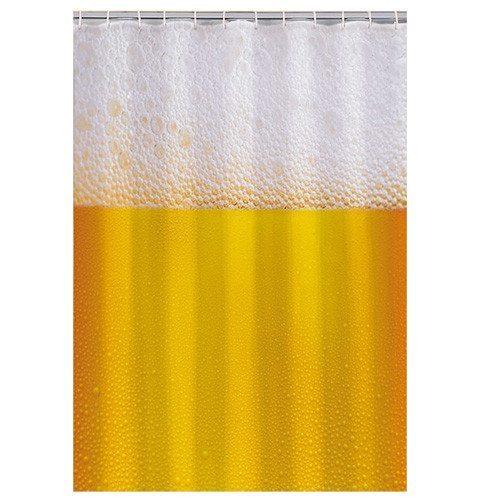 Bier-Duschvorhang - Schaum für echte Kerle