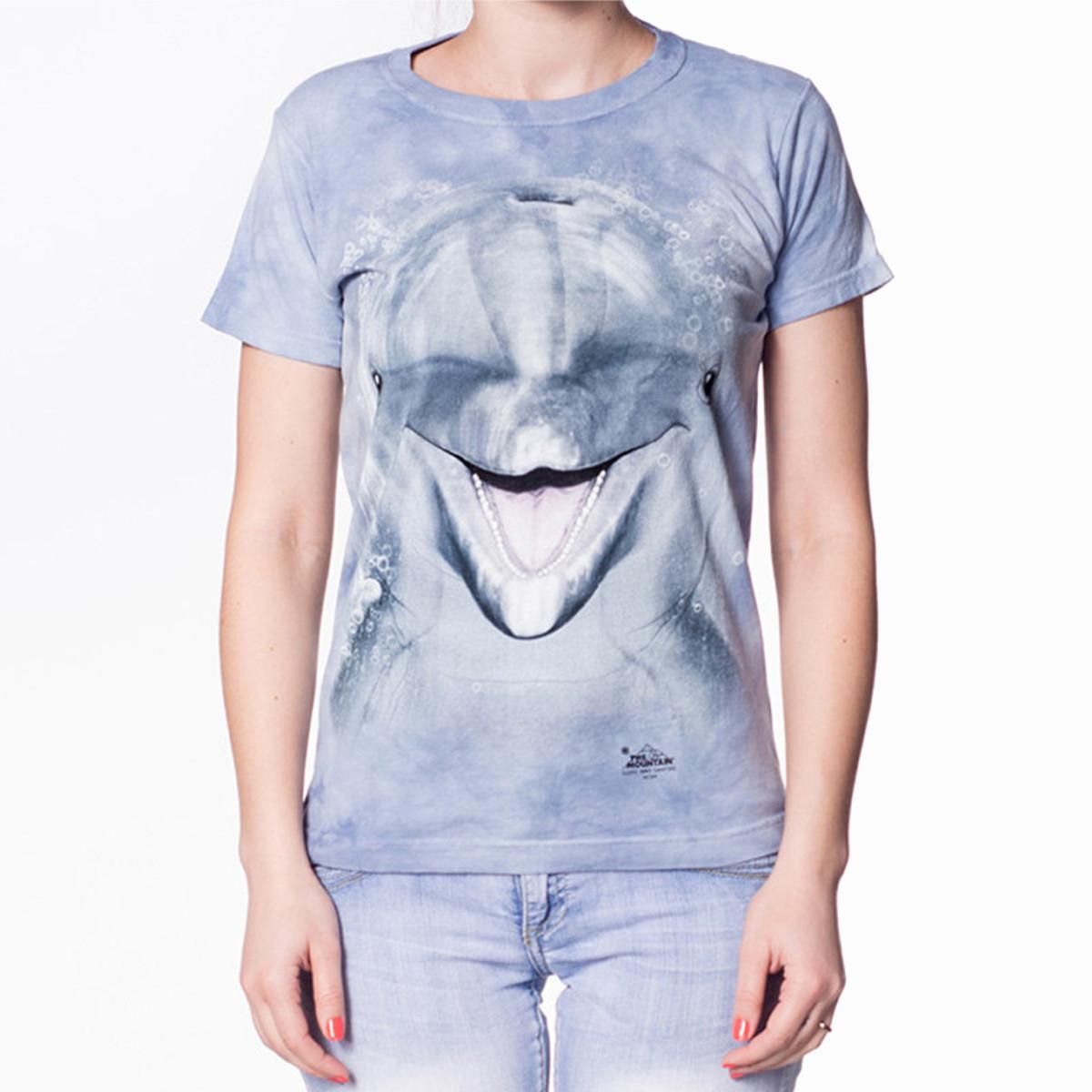 Big Face Damen-T-Shirt – Delfin