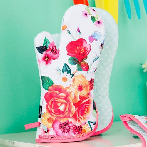 Blumen-Topfhandschuhe