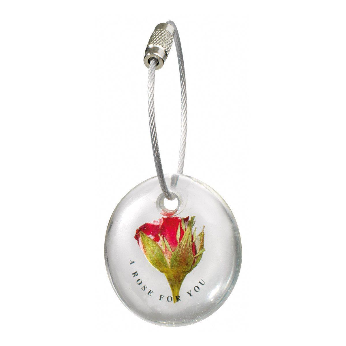 Blumenschlüsselanhänger - Eine Rose für Dich