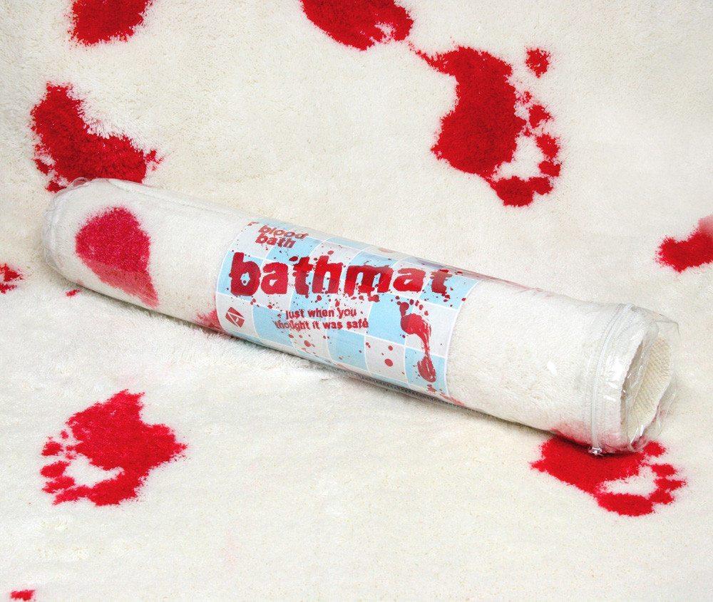 Blutiger Badvorleger