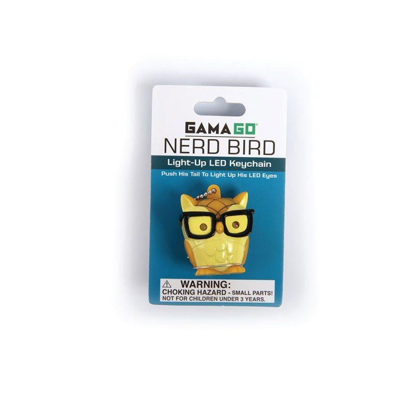 Brilleneule - LED Schlüsselanhänger