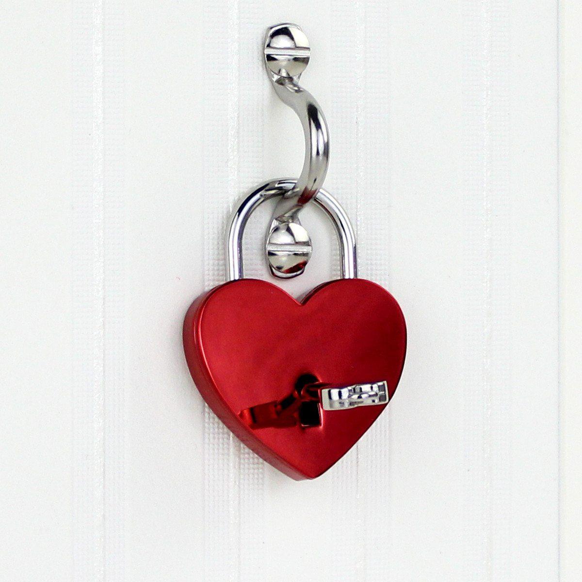 Candado del amor enmarcado con grabado - para un día especial