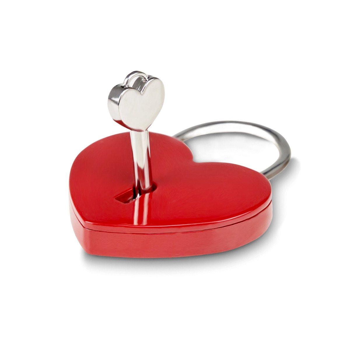 Candado rojo del amor con grabado- Pasión al rojo vivo