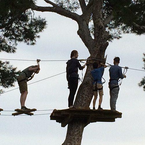 Circuito de tirolinas bajo la luz de la luna - Mallorca