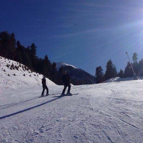 Clase de Esqui en grupo - Gerona