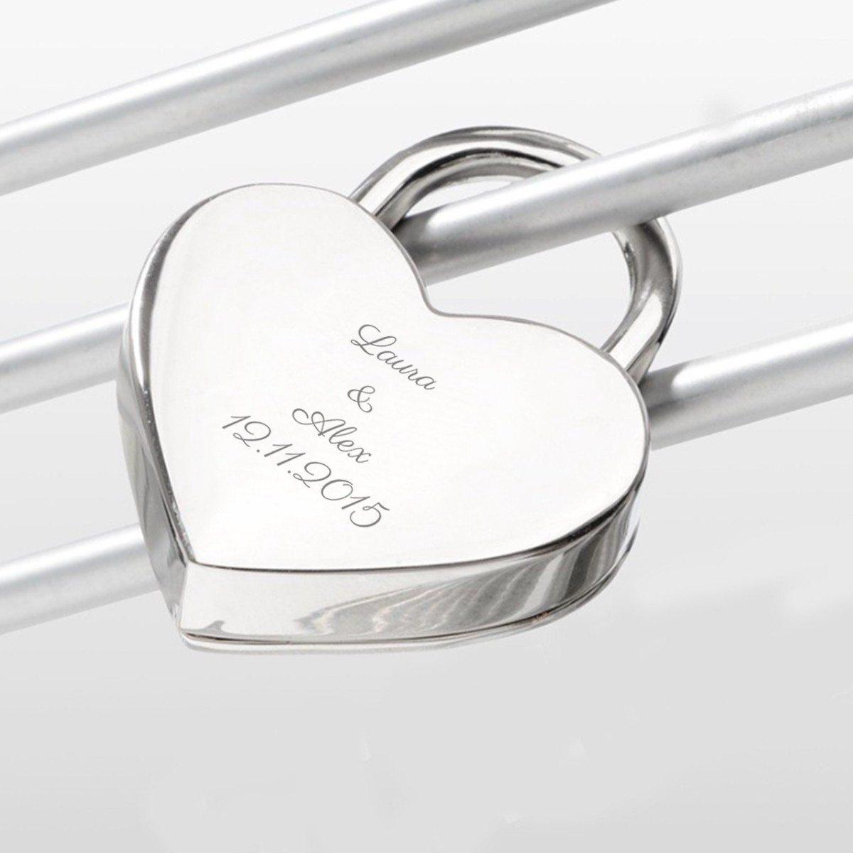 Corazón con candado romántico pequeño - un regalo especial