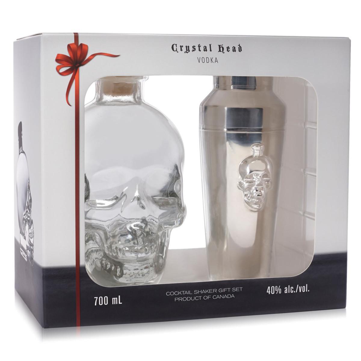 Crystal Head Vodka – Geschenkset mit Cocktail-Shaker