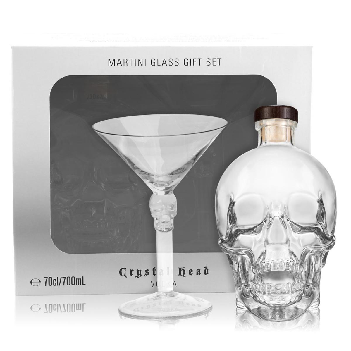 Crystal Head Vodka – Geschenkset mit Martini-Glas