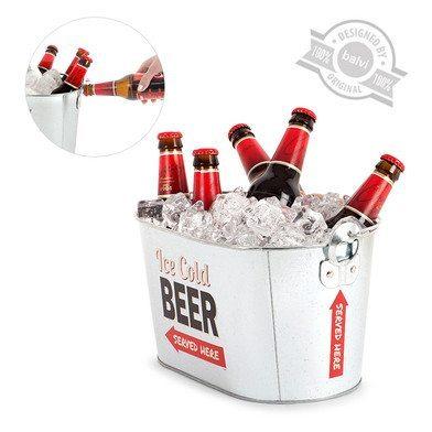 "Cubo retro enfriador de cerveza ""Party Time"""