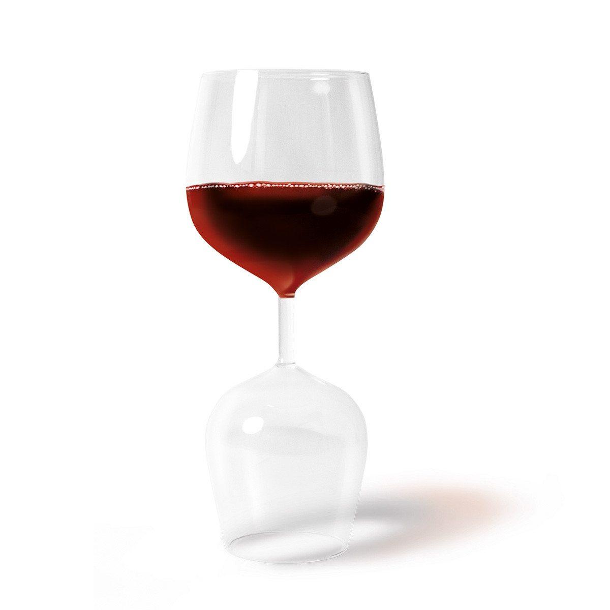 """Das praktische Weinglas """"Rot & Weiß"""""""