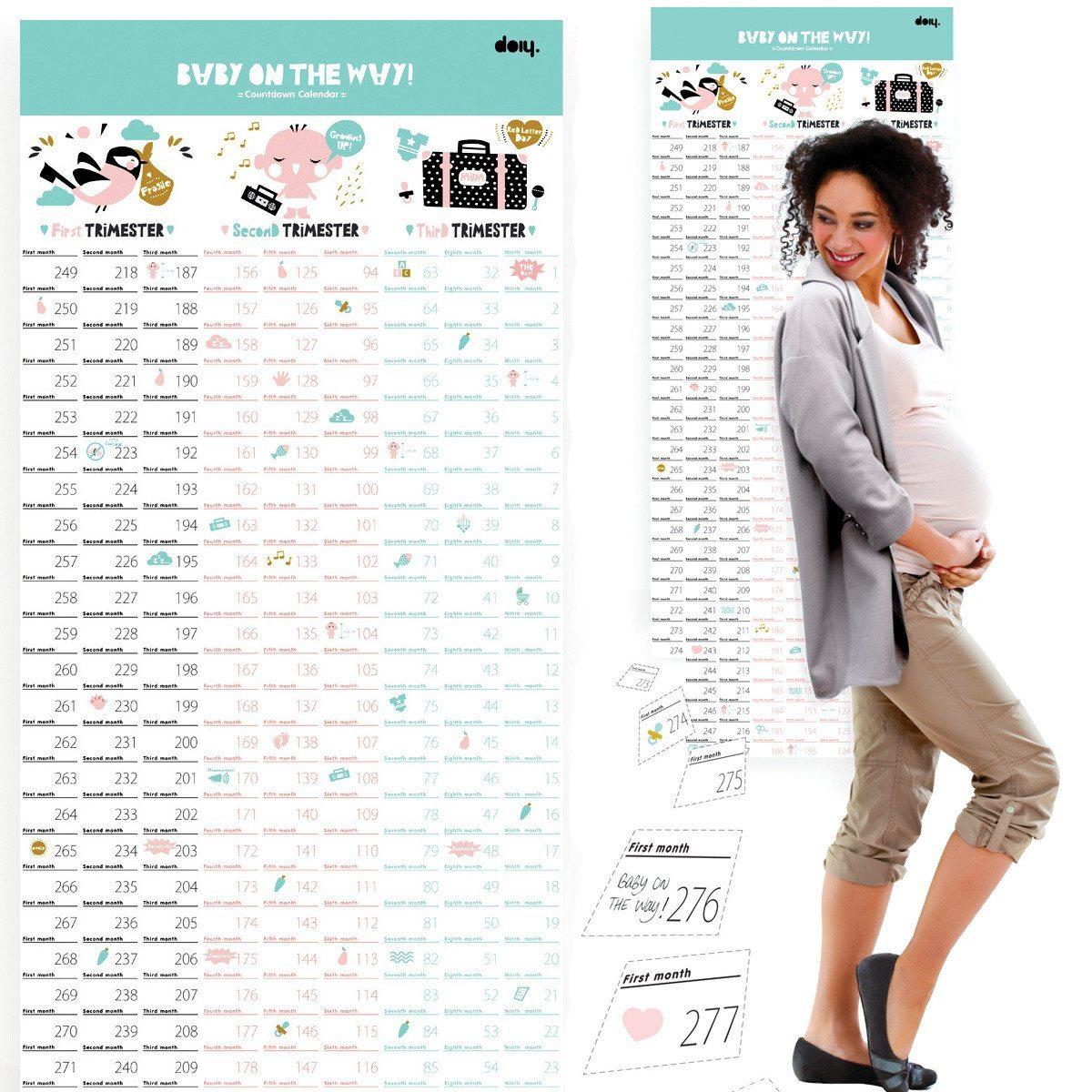 Der Countdownkalender für die Schwangerschaft