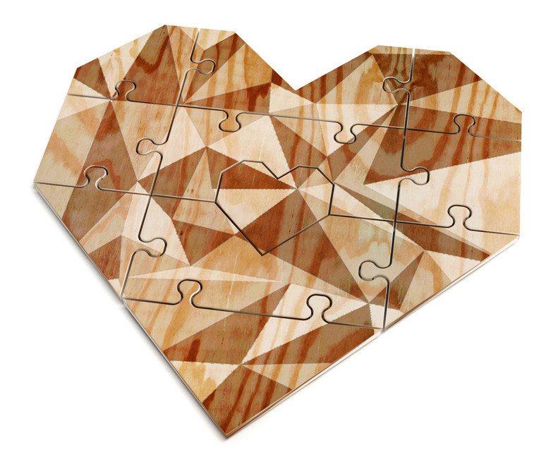 Du vollendest mich - Herzpuzzlekarte