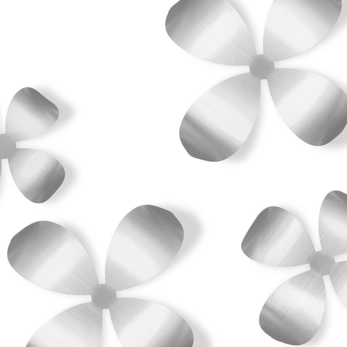 "Edle Wanddeko ""Metallische Blumen"""