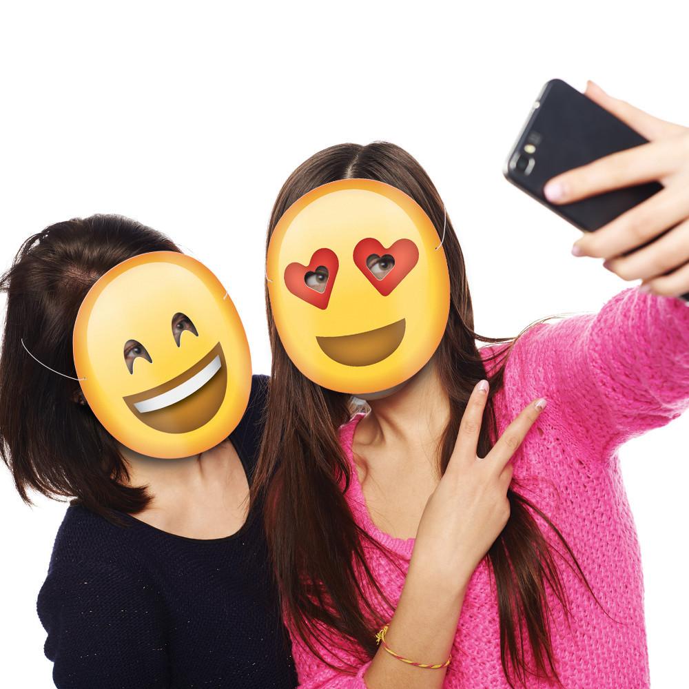 Emoji-Partymasken