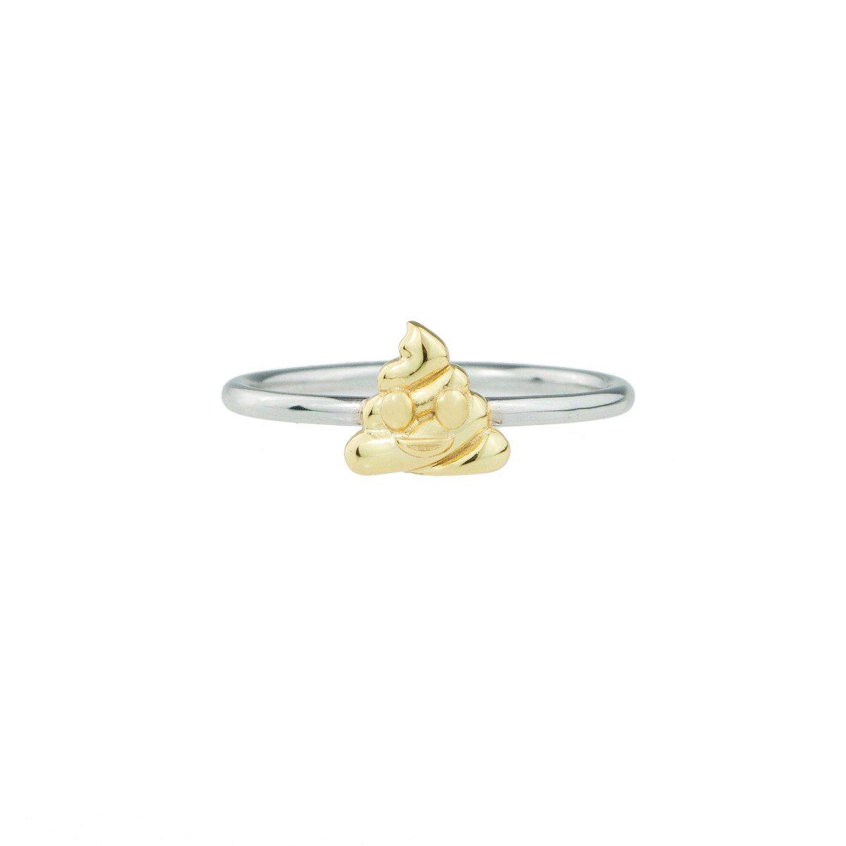 Emoji-Ring aus Sterling-Silber