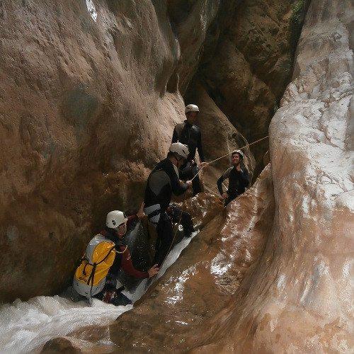 Espeleología en cueva acuática - Castellón