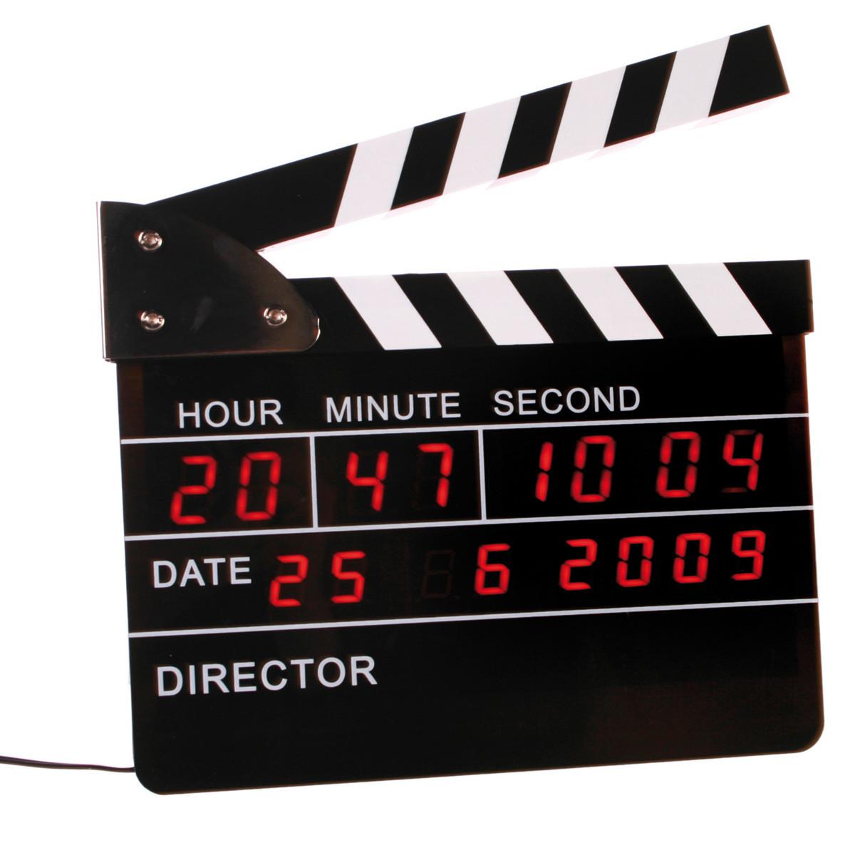 Filmklappen-Wecker mit Digitaluhr