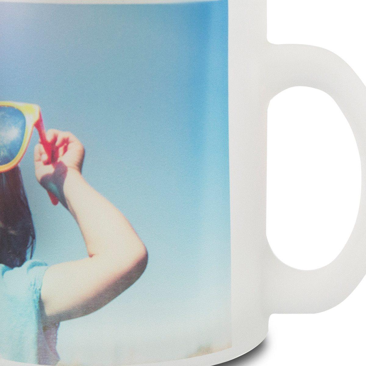 Fototasse aus satiniertem Glas