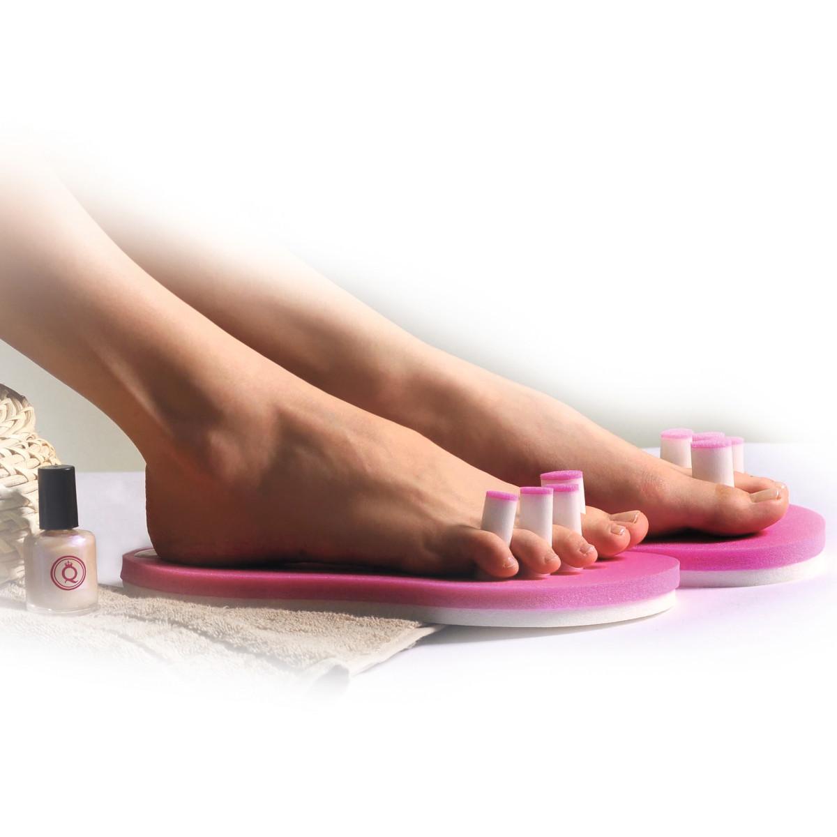 Für die perfekte Pediküre: Zehenspreizer mit Sohle