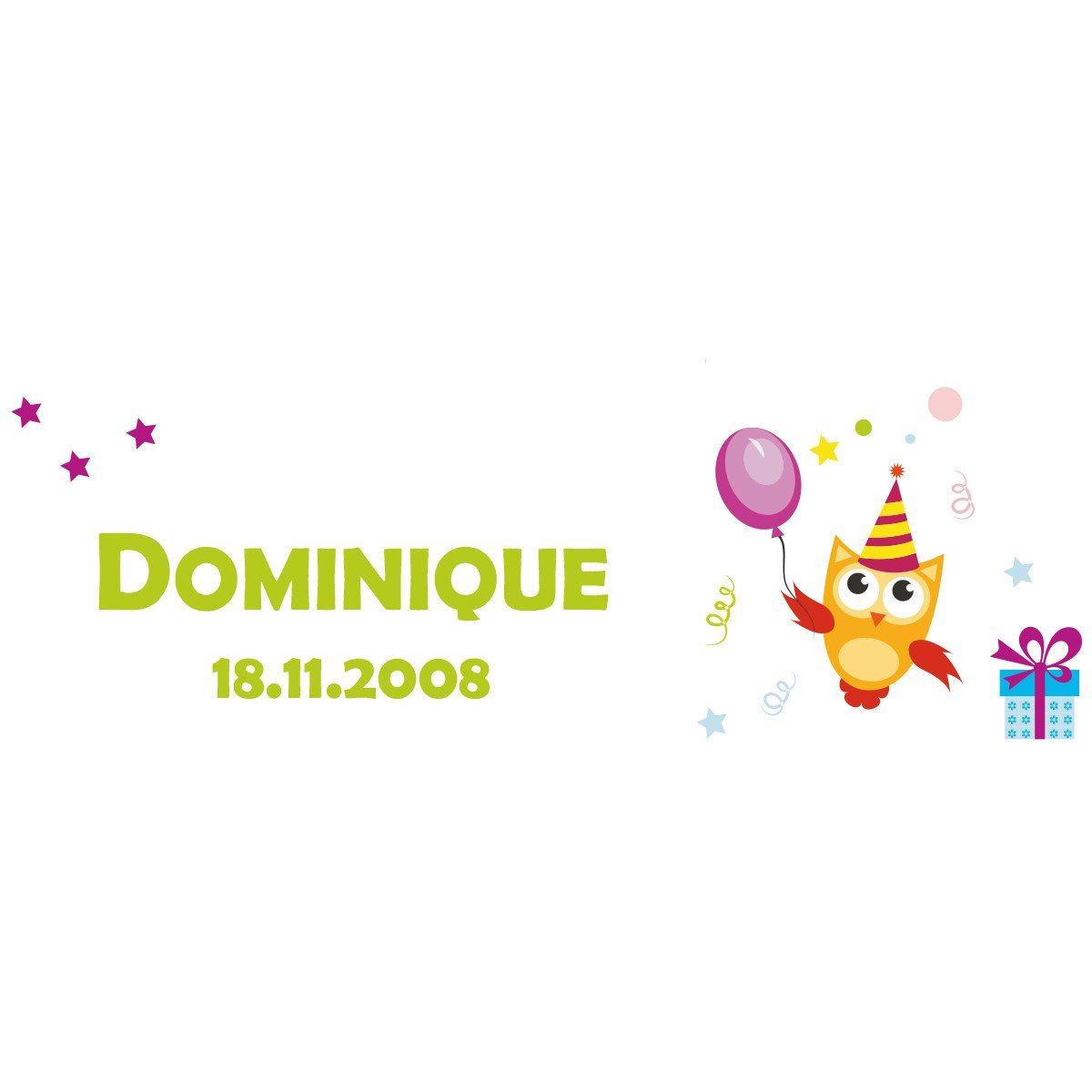 Geburtstagstasse mit Namen und Datum