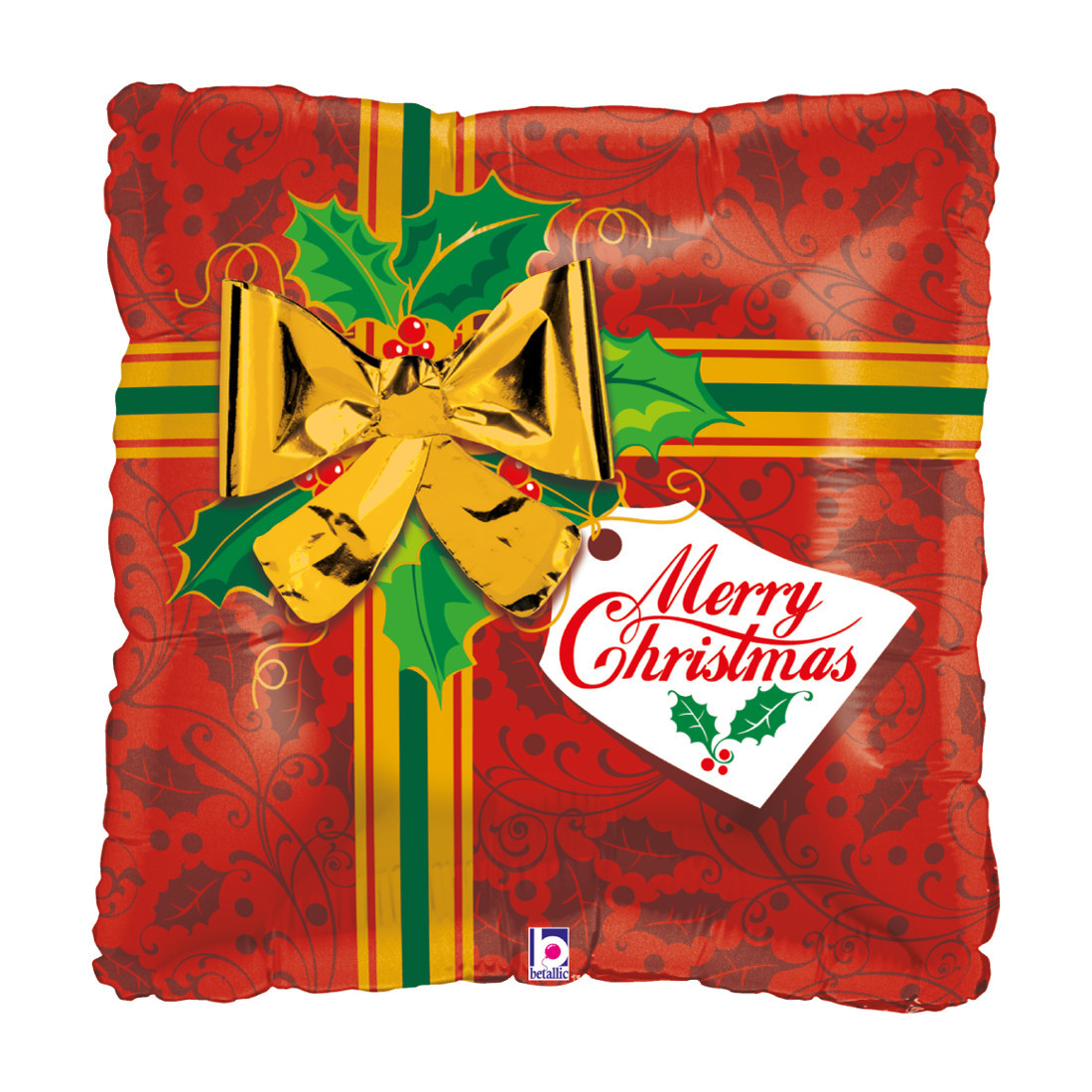 "GESCHENK MERRY CHRISTMAS 56 CM / PRESENT 22"""