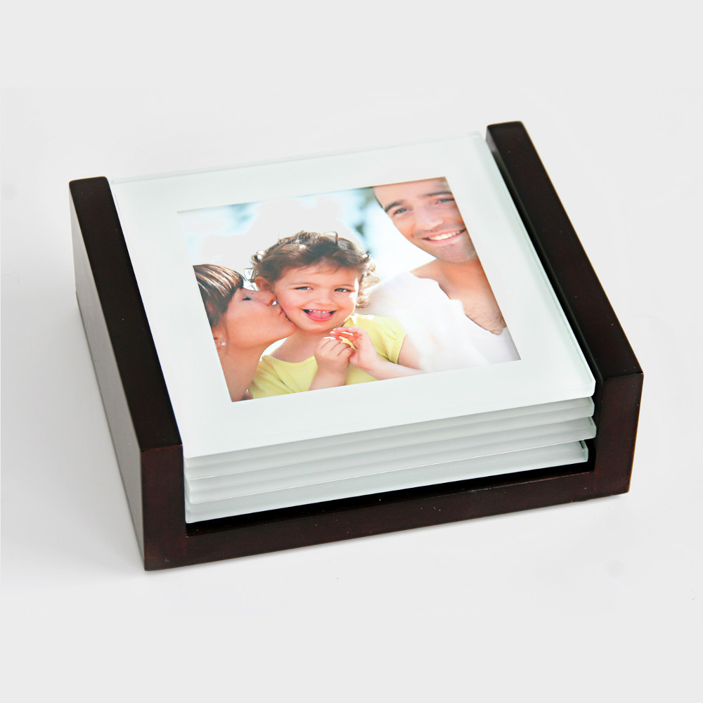 Glasuntersetzer mit Foto - 4er-Set