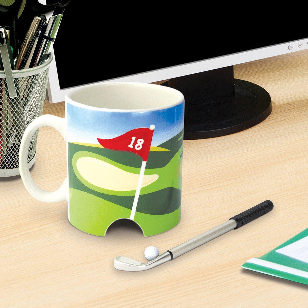 Golf-Kaffeetasse – Zum Putten in der Pause