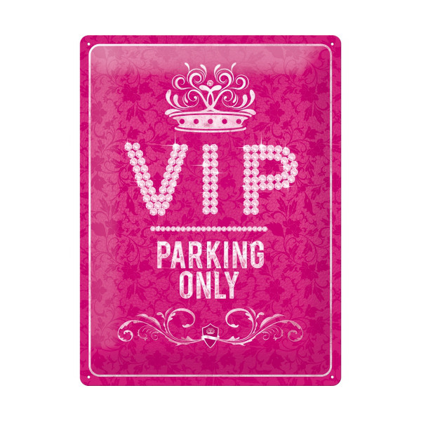 "Großes Blechschild ""VIP-Parking only"""
