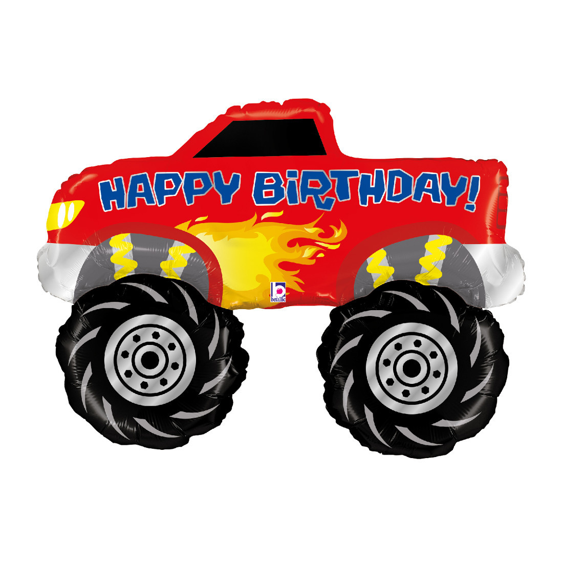 HAPPY BIRTHDAY MONSTER TRUCK 102 CM/ 40""