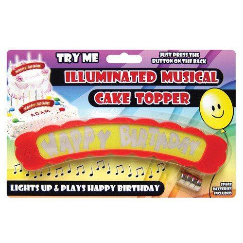 Happy Birthday - Musikalischer Tortenaufsatz