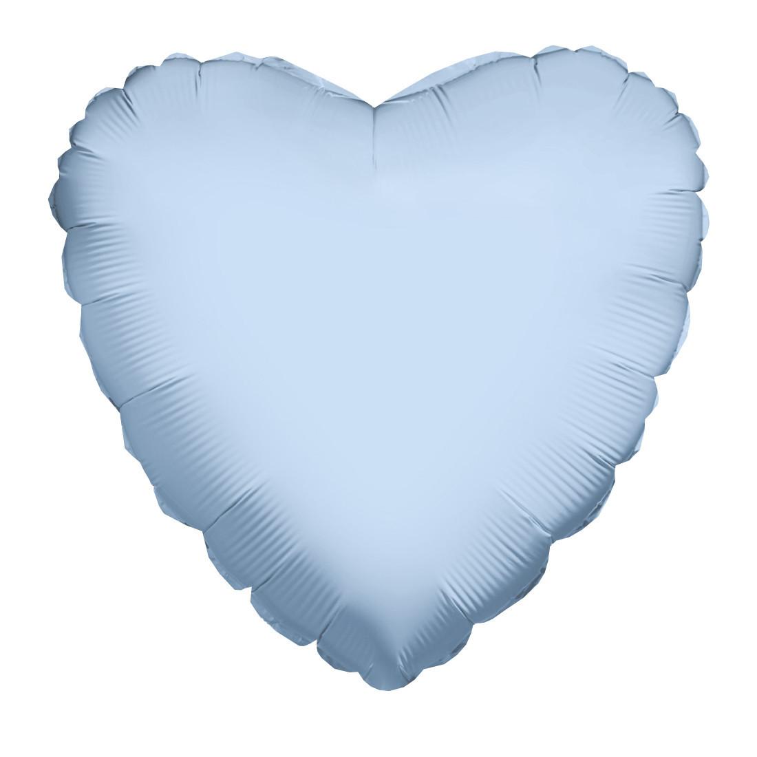 "HERZ HELLBLAU 46 CM / HEART LIGHT BLUE 18"""