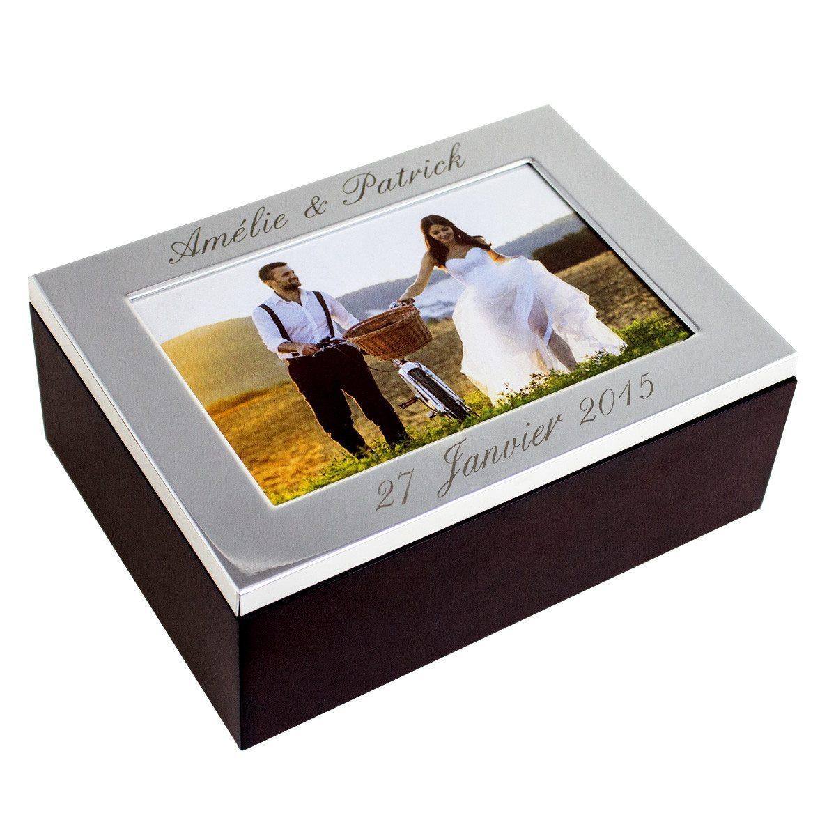 Hochwertige Fotobox mit Gravur