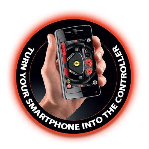iPhone mit App für RC Ferrari
