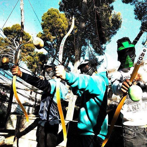 Juego de arcos en grupo - Tarragona