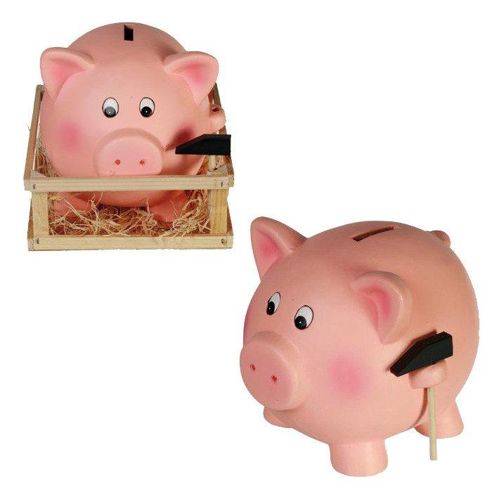 Jumbo-Sparschwein mit Hammer