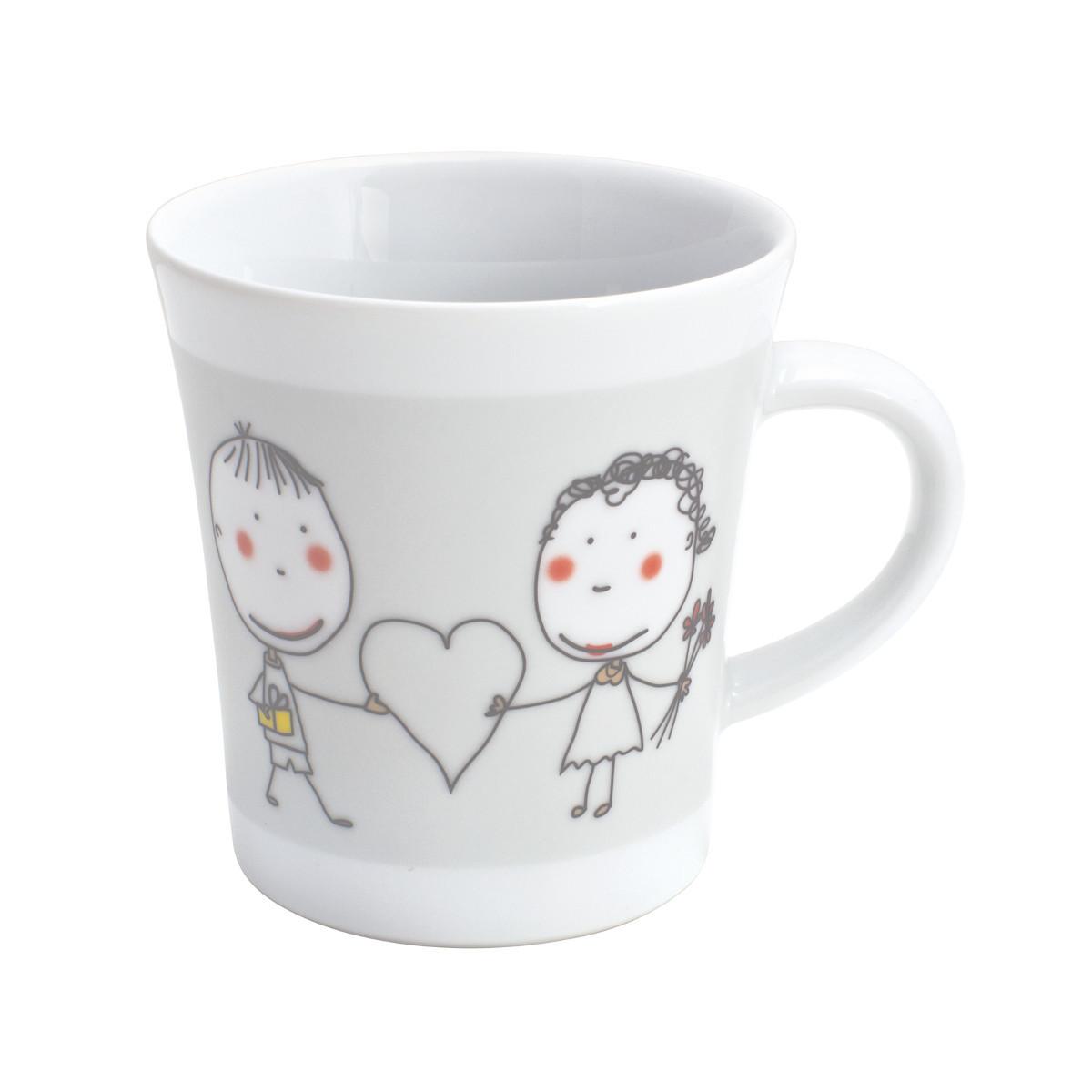 Kahla-Tasse zum Bemalen: Herzensgruß