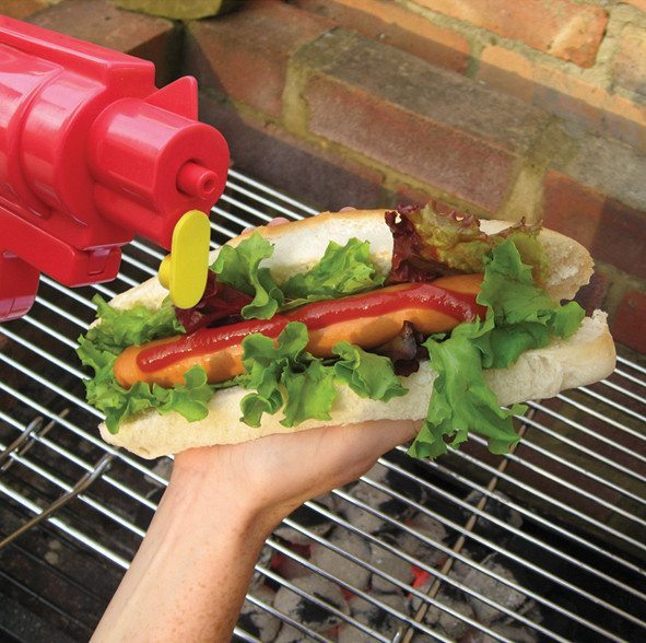 Ketchup- und Senfpistole