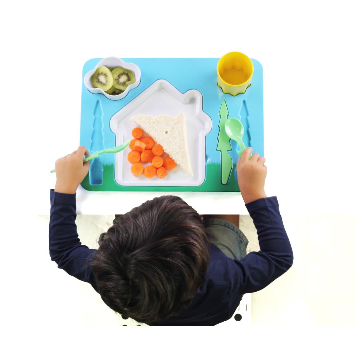 Kindergeschirr - Komplett-Set mit Tablett