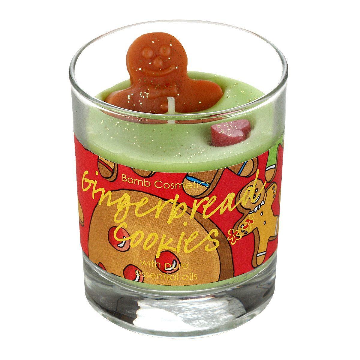 Kleine Duftkerze im Glas